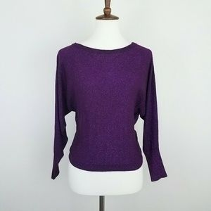 INC International Concepts Purple Metallic Sweater
